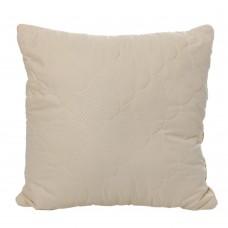 Подушка Семейная гипоаллергенная из микрофибры, наполнитель: шариковый силикон, жесткая, бежевая 60х60 см