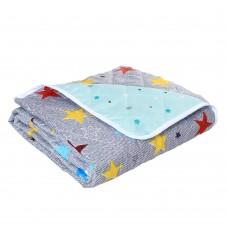 Облегченное Летнее Одеяло для любого сезона, гипоаллергенное, наполнитель силикон, разноцветное 175х210 см