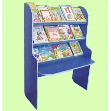 Стенка Библиотека Всезнайка для детсадов с полками для книг, методических и печатных материалов 100х40х120 см 61687-19 W335
