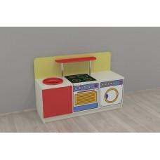 Игровая Стенка-Кухня Стандарт для детских садов для сюжетных игр, с зоной для хранения игрушек 120х42х80 см 61697-19 W345