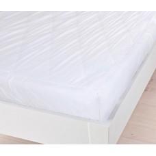 Защитный Наматрасник с бортами Стандарт: наполнитель синтепон, верх микрофибра, цвет белый 200х200х20 см