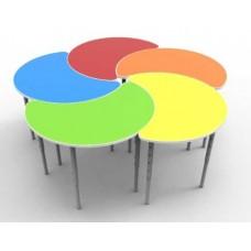 Модульный Комплект Столов из 6 элементов-лепестков для детского сада для игр и занятий 80х65х46/52/58 см