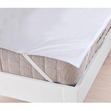 Наматрасник на резинке водонепроницаемый Аква Стоп: мембранная и махровая ткань, цвет белый 200х200 см 61839-19 HF-2040049