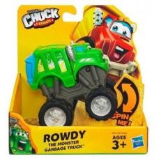Машинка мусоровоз Роуди Чак и его друзья, подвижная, раскачивающаяся, 10 см - Rowdy, Playskool, Tonka, Hasbro