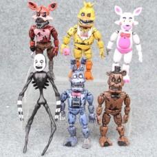 Игровой набор Пять ночей с Фредди Аниматроники с подвижными частями, 6 фигурок, 14 см, Five Nights at Freddy`s