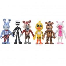 Игровой набор Аниматроники 6 персонажей Пять ночей у Фредди, подвижные, высота 9 см - Five nights at Freddy`s