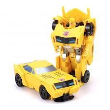 """Детская Игрушка для мальчиков Робот-Трансформер Бамблби """"Роботы под прикрытием"""" с трансформацией 1-шаг, 12 см"""
