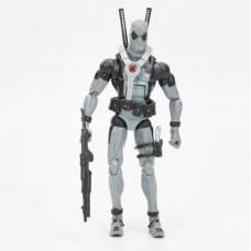 Реалистичная фигурка Дэдпула серого цвета с набором аксессуаров, подвижная, высота 15 см - Gray Deadpool, Marvel 43172-02 az-gddpl