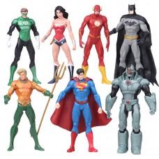 Набор Фигурок Лига Справедливости: Супермен Бэтмен Чудо-женщина Флэш Зелёный Фонарь Киборг Аквамэн - DC Comics