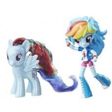 Игровой набор Радуга Дэш пони и кукла Моя Маленькая Пони - My Little Pony Rainbow Dash Pony & Doll Set, Hasbro
