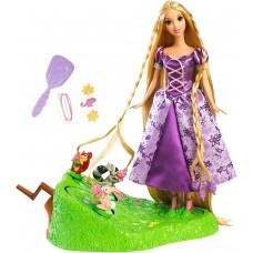 Игровой набор для плетения косичек Рапунцель и друзья Запутанная история Дисней - Rapunzel Doll Braiding Friends
