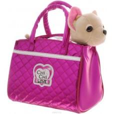 Игрушечная собачка для девочек Чи Чи Лав Модный Гламур в стильной розовой сумочке - Chi Chi Love Glam Fashion
