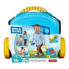 Детский Игровой Развивающий Конструктор Чемоданчик с конструктором с колесами Mega Bloks Building Basics