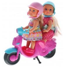 Игровой набор из 2 кукол-сестричек Еви Веселое путешествие на скутере с 2 шлемами - Evi Love Scooter Fun Simba