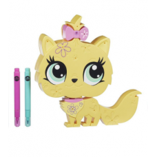 Детский Развивающий Интерактивный Игровой Набор Укрась свою зверюшку Котенок-пенал - Littlest Pet Shop, Hasbro