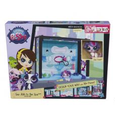 Детский Интерактивный Игровой набор Zoe Trent в СПА-салоне с множеством аксессуаров и ванной Littlest Pet Shop