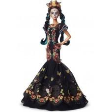 Коллекционная Кукла Барби День Мёртвых в черном платье с черепами и бабочками - Día de Muertos Barbie Doll 2019