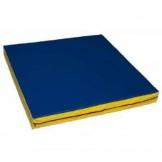 Боксерский Спортивный мат (М1) для любого возраста для дома, спортзала, на поролоне (цвет синий) 100х100х10 см