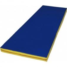 Боксерский Спортивный мат (М3) для любого возраста для дома, спортзала, на поролоне (цвет синий) 100х200х4 см