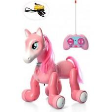 Игровая Интерактивная Пони для девочек на радиоуправлении с проектором, световые и звуковые эффекты, 24 см