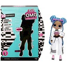 Игровой набор Большая Кукла ЛОЛ Чиллакс с 20 модными сюрпризами, 27 см - LOL Surprise! OMG Series 3 Chillax