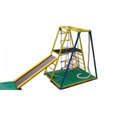 Детский спортивный Комплекс-уголок для дома и улицы: лестницы с окошками, горка, рукоход 94х124х142см 62187