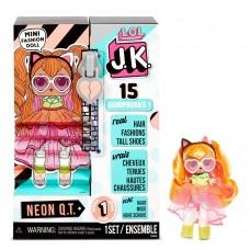 Игровой набор с мини-куклой ЛОЛ Неон: рыжие волосы, растущая обувь 15 сюрпризов - LOL Surprise! JK Neon QT Mini