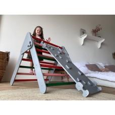 Детский Спортивный Комплекс Треугольник Пиклера c горкой для детей от 3 месяцев и до 150 кг 85x174x79 см 62416