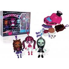 Набор для изготовления 3 брелоков-куколок Монстер Хай Клодин Вульф, Дракулаура и Френки Штейн - Monster High