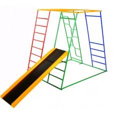 Детский спортивный Комплекс-уголок для малышей для дома и улицы: качели, горка, канат, мат 135х115х130см 62591