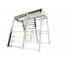 Детский спортивный комплекс-уголок для дома и квартиры, веревочная лестница, кольца, рукоход 140х140х130 см 62784