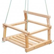 Качели Детские деревянные подвесные для детей до 30 кг из дерева дуба 27x27x12 см