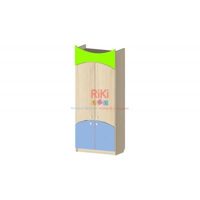 Модульный Стеллаж Витрина с распашными дверцами для хранения игрушек и пособий для детских садов 60х31х147см