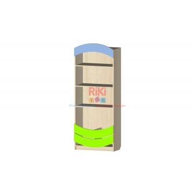 Модульный Стеллаж Витрина с открытыми полками и нишей для хранения игрушек и книг в детских садах 60х31х155см