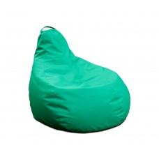 Бескаркасное Кресло-Груша для детей с чехлом из ткани Оксфорд, наполнитель-гранулы, с ручкой 90х60см зеленый