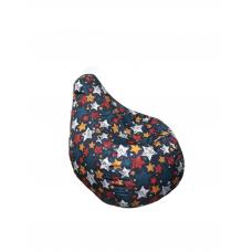 Бескаркасное Кресло-Груша для детей с чехлом из ткани Оксфорд, наполнитель полистирол, 90х60см принт Звезды