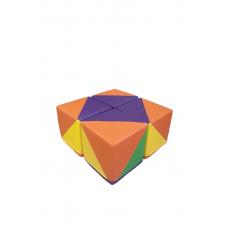 Комплект бескаркасных пуфов Мозайка из 4 модульных элементов для детских садов и развлекательных центров 70х70х35 см