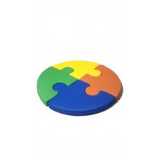 Мягкий бескаркасный игровой мат Пазл для детских садов и развлекательных центров, диаметр 130 см, высота 10 см