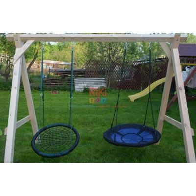 Игровой комплекс Детские Качели Гнездо на качельной балке для уличных площадок с двумя подвесами, до 150кг