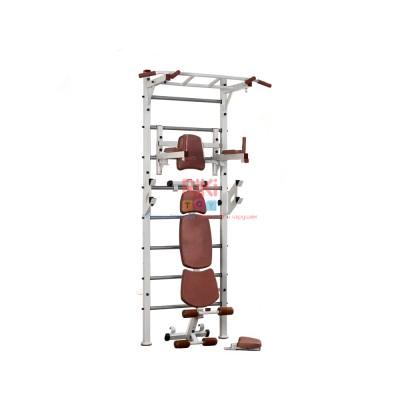 Спортивная Шведская стенка для взрослых металлическая для дома, квартиры с турником 243х80 см Brown 64877