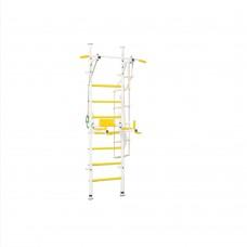 Металлическая Шведская стенка для детей и взрослых: 2 турника, навесное, тарзанка 52х115х230см Yellow 64959