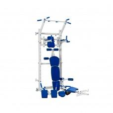 Многофункциональный спортивный комплекс с турником, брусьями и приставкой Скотта 120х110х240см Blue 64973