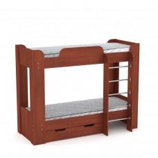 Двухъярусная детская Кровать-чердак с лестницей и выдвижными ящиками для хранения 197х90х152см яблоня 65205