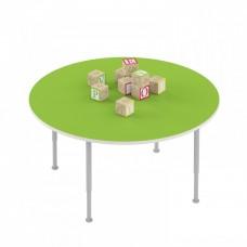 Стол детский круглый на регулируемых ножках для рисования - настольных игр для детских садов 90х90х42/58см 63801