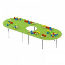 Стол для настольных игр - рисования на регулируемых ножках с отверстием для детских садов 130х102х42/58см 63802