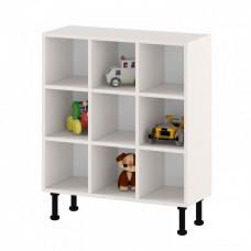 Напольный шкаф - стеллаж для горшков на 9 мест с открытыми полками для детских садов 82х32х97 см 63734