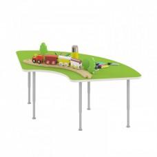 Стол игровой Сектор для рисования - настольных игр на регулируемых ножках для детских садов 134х70х42/58см 63806