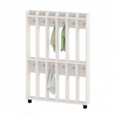 Вешалка Шкаф напольный для хранения полотенец для детских садов на 12 вертикальных секций 84х11х120см 63738