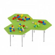 Стол игровой для рисования и настольных игр с регулируемыми ножками для детских садов 70х67х42/58 см 63799