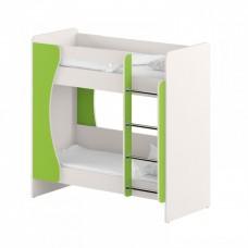 Детская двухъярусная кровать для детских садов из ДСП с лестницей и бортиком 143х76х140см салатовая 63719